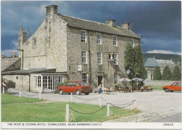 Romaldkirk, The Rose & Crown, postcard